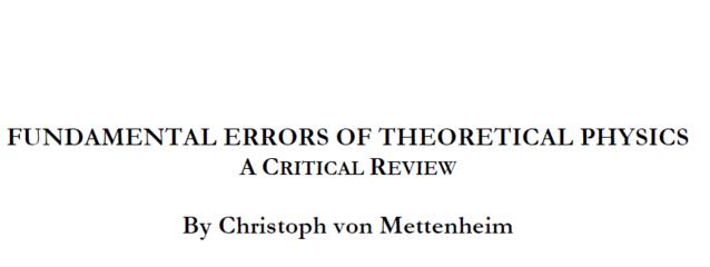 Fundamental Errors of theoretical physics